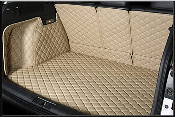 Cool Car Custom fit Cargo Mat boot liner Waterproof Full covered cargo liners Leather Boots Liner Pet Mats for Landrover Range Rover Sport 2014-2017 2014-2018, Beige
