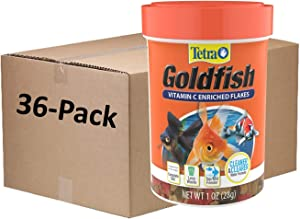 Tetra Goldfish Flakes 1 Ounce, Balanced Diet, Clear Water Formula (1 CASE of 36, 1.0 Ounce CONTAINERS)