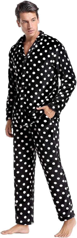 Hombre Abollria Pijamas Traje De Invierno Franela Para Hombre Mujer Servicio A Domicilio Manga Larga 2 Piezas Conjunto De Pijama Para Hombre Mujer Ropa De Noche Manga Larga Y Pantalones Largos Suave Y