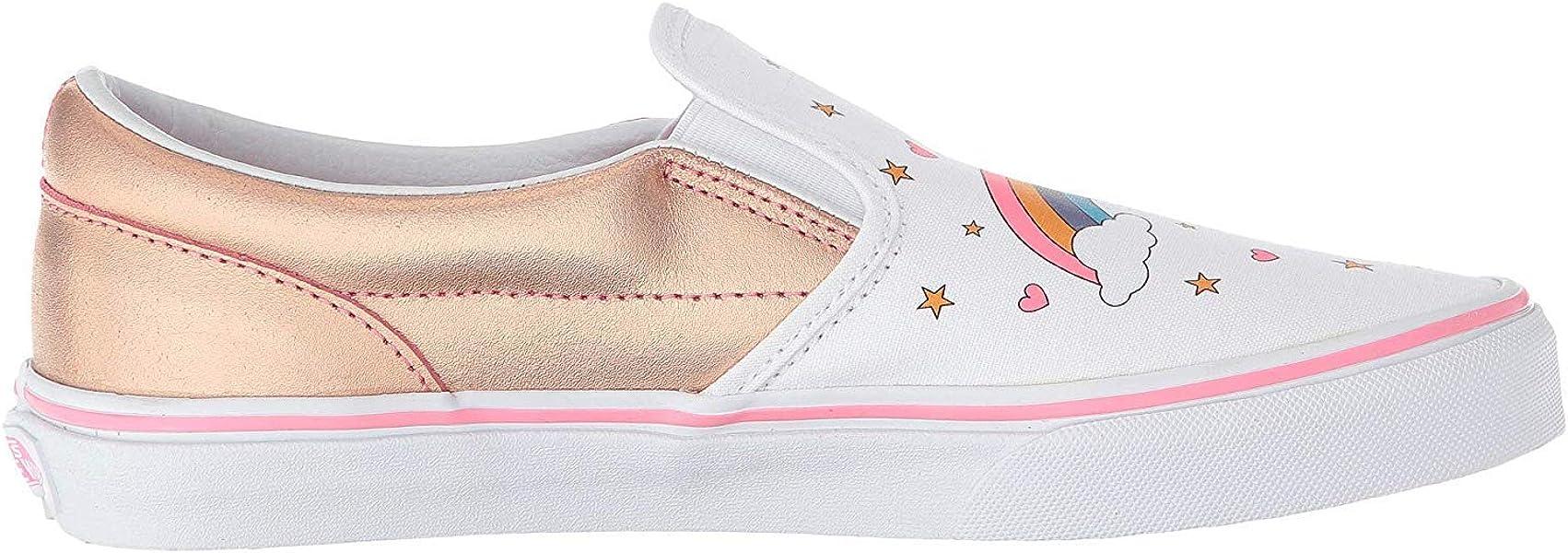 bef48891f5ee1 Vans VN-0EX8UGL  Boys Slip On Unicorn Rainbow Pink Lemonade True White  Sneakers