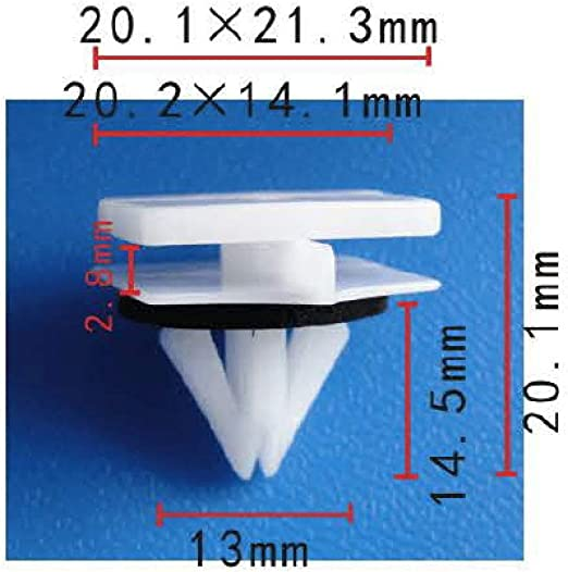 50 PCS ROCKER PANEL MOULDING CLIPS FOR GM CHEVY AVALANCHE 2002-ON 11518357