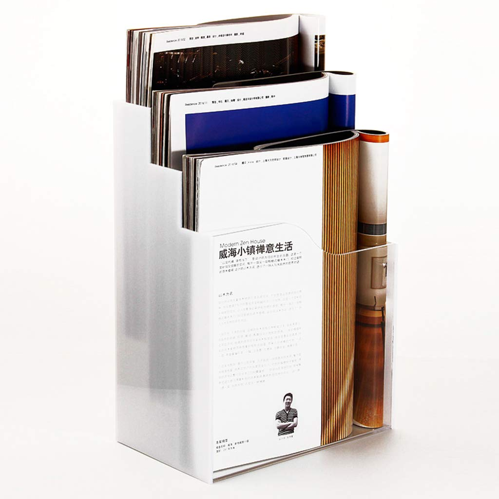 Dateihalter A4 Acryl Drei Etagen Katalog Transparent Weißer Hintergrund Datenrahmen Tischständer Prospektaufbewahrungsbox B07MV7XYZV | Kompletter Spezifikationsbereich