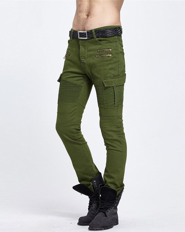 Herren Cargo Denim Hose Biker Jogging Cuffed Jeans Freizeithose Arbeitshose:  Amazon.de: Bekleidung