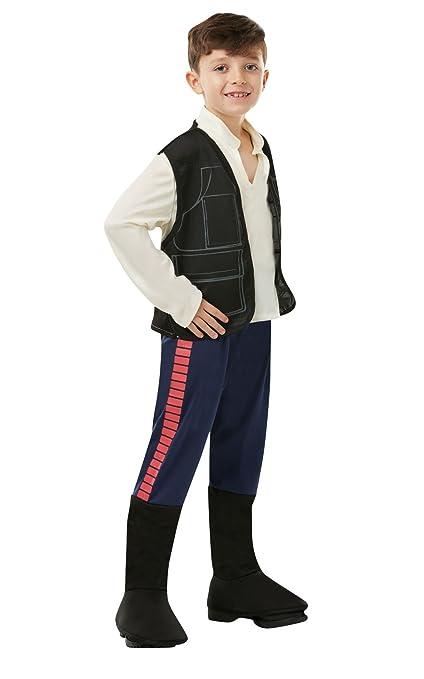 Star Wars - Disfraz de Han Solo para niño, infantil 3-4 años (Rubies 883160-S)