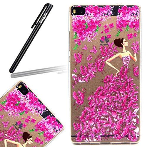 Funda para Galaxy Core Prime G360, funda de silicona transparente para Galaxy Core Prime G360,Galaxy Core Prime G360 Case Cover Skin Shell Carcasa Funda, Ukayfe caso de la cubierta de la caja protecto Niña de las flores