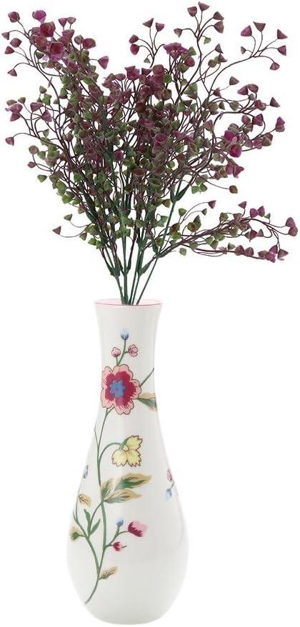 UEB Fleurs De Lavande Artificielles En Plastique Plantes Romantiques Pour Cadeaux De Mariage Jaune