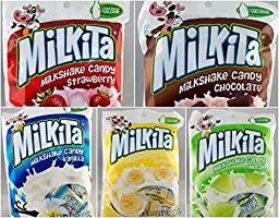 Milkita 5 Flavor Variety Pack - Vanilla Milk, Banana, Strawberry, Chocolate, Melon