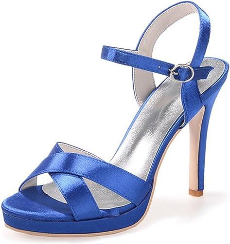 Elobaby Femmes Chaussures De Mariage Basique Pompe Soirée