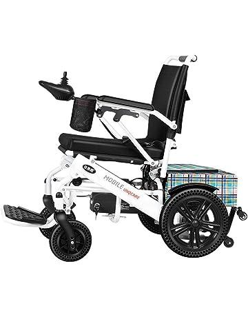 JBP max Silla de Ruedas, Silla de Ruedas eléctrica Luz Plegable Vieja Discapacitado Scooter de
