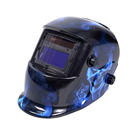 New Pro Solar Welder Mask Auto-Darkening Welding Helmet Arc Tig mig grinding - Skull