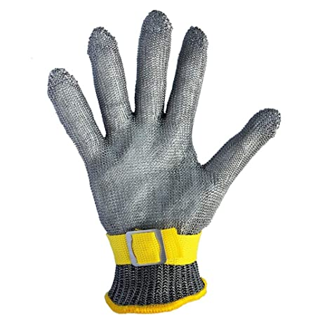 Work Gloves Steel Stainless With Flexible Wrist Strap Safety Gloves Working Protective Gloves Security & Protection
