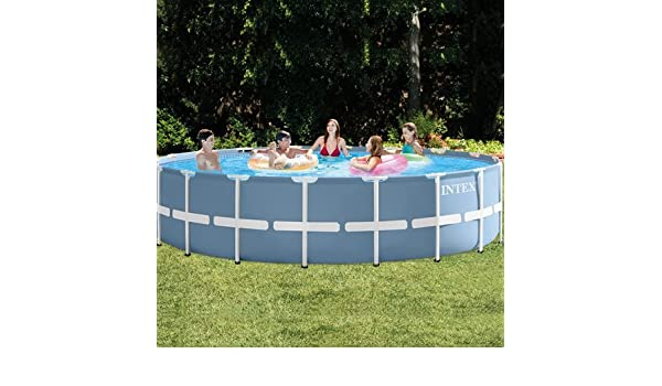Piscina tubular redonda intex metal, frame 1, 22 x 4, 57 m, 54946FR.: Amazon.es: Jardín
