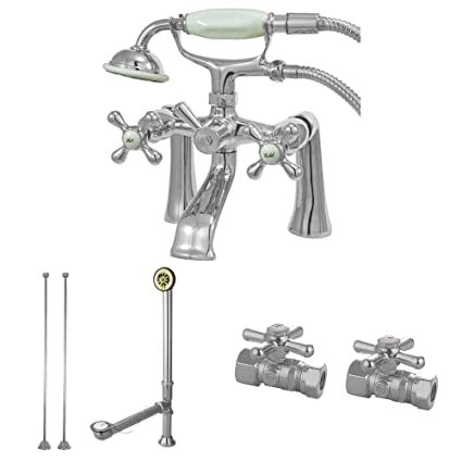 Deck Mount Clawfoot Tub Faucet.Kingston Brass Cck268c Vintage Deck Mount Clawfoot Tub Faucet Package Polished Chrome