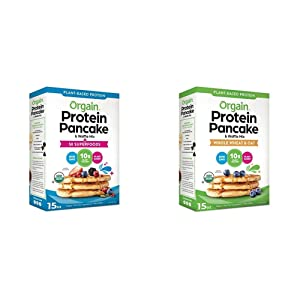 Orgain Protein Pancake & Waffle Mix combo - 50 Superfoods - Made with Mango, Gluten Free - Made with Organic Rice Flour and Whole Wheat & Oat - Made with Organic Rice Flour
