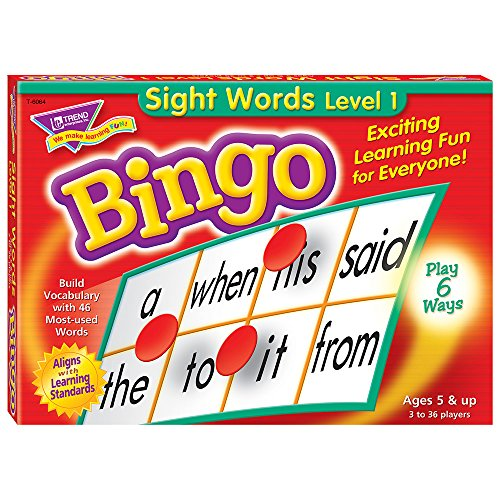 Trend Young Learner Bingo Game, Sightwords -