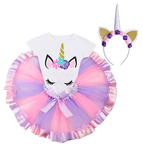 Amazon.com: Conjunto de falda de tutú de unicornio para ...