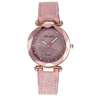 a22c51f217641 Women Watches Sale!! YOLAKO Women's Casual Quartz Leather Band Starry Sky  Watch Analog Wrist Watch