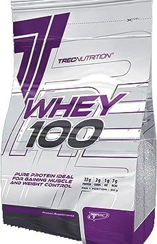 WHEY 100 900g - Suero Concentrado de Proteína en Polvo - aumentar la masa muscular Weight Gainer - NUTRICIÓN TREC - ganar músculo y Control de Peso - ...