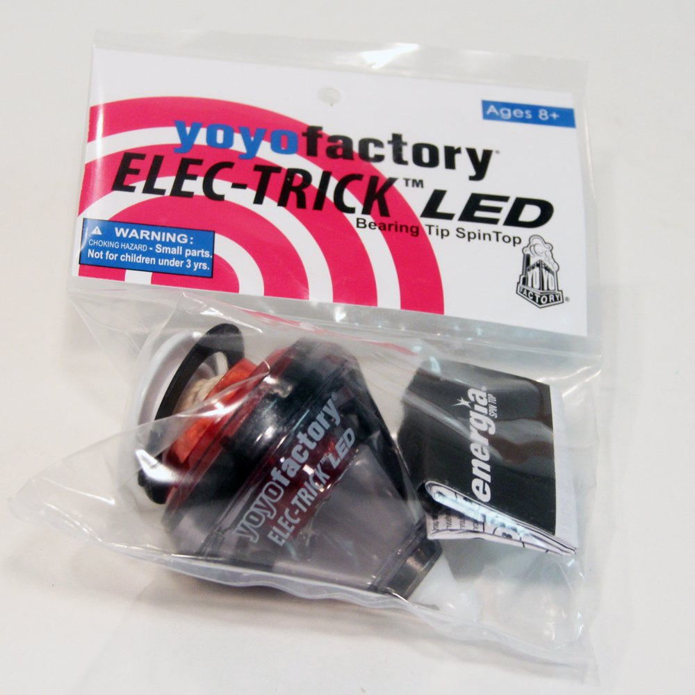 Red YoYoFactory Elec-Trick LED Bearing Spin Top