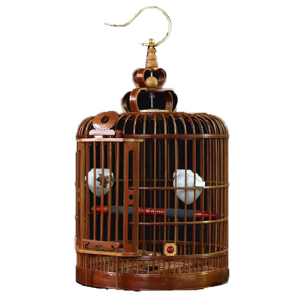 M ZRZJBX Bird Cage Aviary Bamboo Throstle, Starling Are Applicable, Equipped With A Set Of Advanced Accessories,M