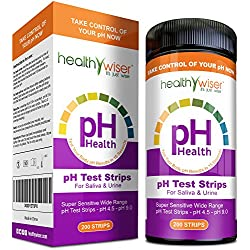 pH Test Strips 200ct - Tests Body pH Levels for Alkaline & Acid Levels Using Saliva and Urine. Track and Monitor Your pH Balance & A Healthy Diet, Get Accurate Results in Seconds. pH Scale 4.5-9