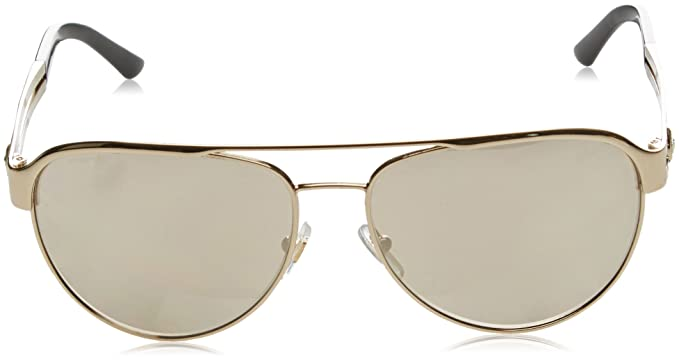 45e323d7d4 Amazon.com  Versace Womens Sunglasses (VE2165) Gold Brown Metal -  Non-Polarized - 58mm  Versace  Shoes