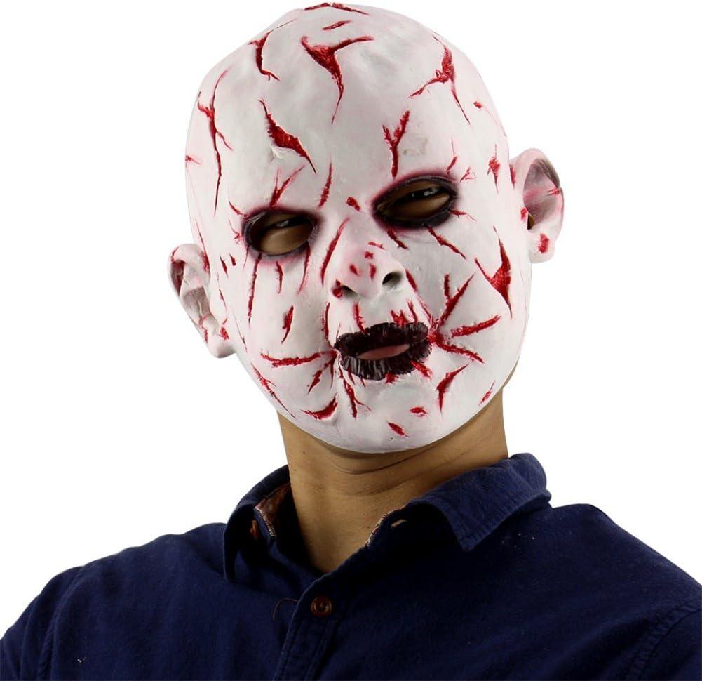 Forart Creepy Scary Halloween Cosplay m/áscara para Adultos decoraci/ón del Partido apoyos Bloody Zombie Tenedor Monstruo m/áscara