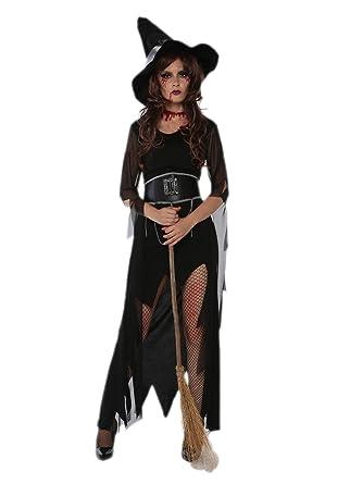 8344bfc0158 Amazon.com: JJ-GOGO Witch Costume Adult - Halloween Black Sexy ...
