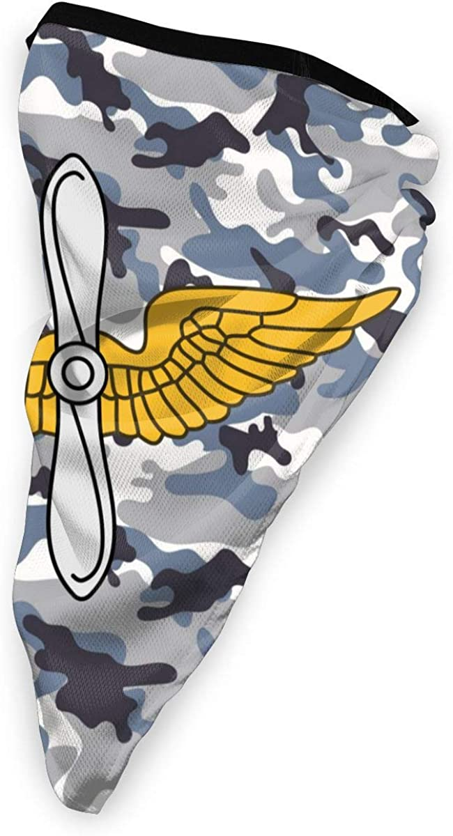 United States Army Aviation Branch Outdoor Face Mouth Mask Windproof Sports Mask Ski Mask Shield Scarf Bandana Men Woman