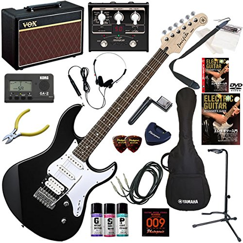 YAMAHA エレキギター 初心者 入門 人気のパシフィカ VOX Pathfinder10とVOXのマルチエフェクターが入ってる完璧21点セット PACIFICA112V/BL(ブラック) B00ANFDN1A BL(ブラック)