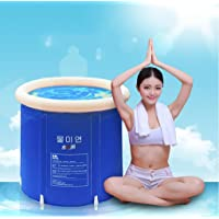 Folding tub bath barrel adult tub inflatable bath, thicker plastic bucket bath tub