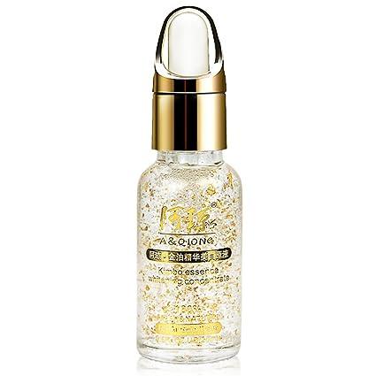Moresave Colágeno 24k Esencia de Oro Líquido Ácido Hialurónico Hidratante Cuidado Facial Crema Antiarrugas Anti Envejecimiento