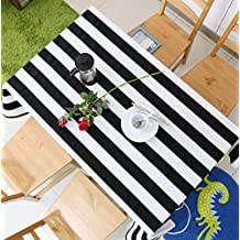 Tablecloth Black And White Stripes Simple Modern Tablecloth Rectangular Tablecloths Home Decorative Table Cover , 140*200