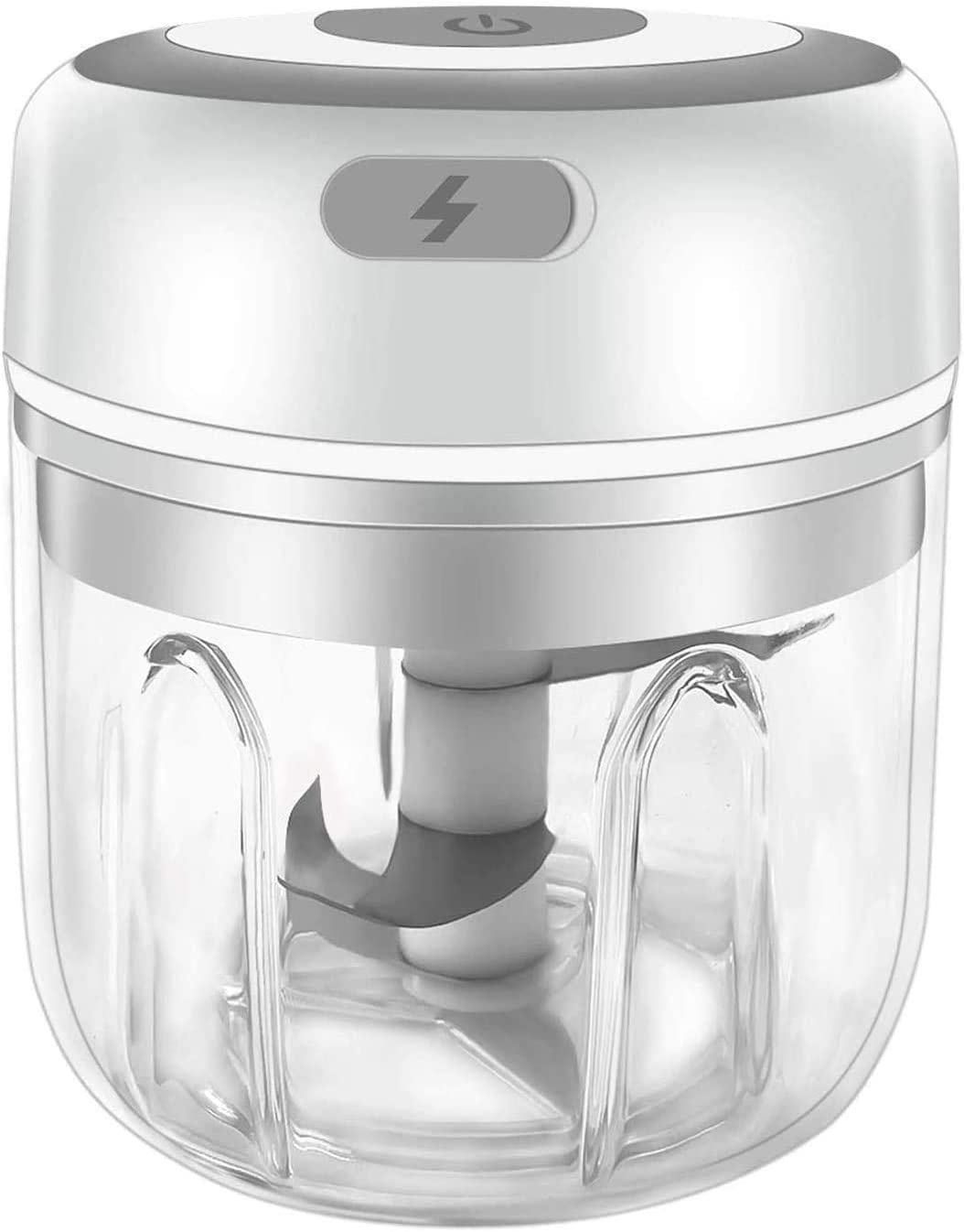 Electric Mini Garlic Chopper Mincer,Portable Cordless Vegetable Food Processor with USB Charging, Rechargeable Powerful Blender for Onion, Grinder, Meat and Salad
