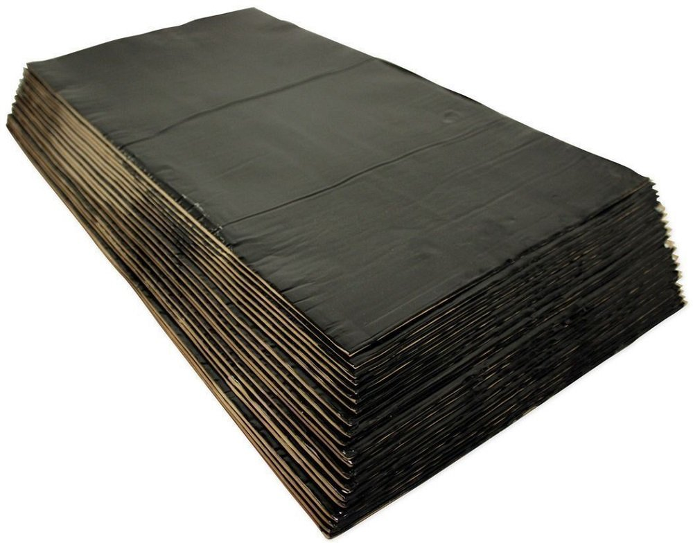 20 Piece HushMat 10400 Ultra Black Foil Floor Kit with Damping Pad
