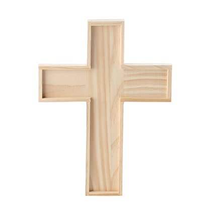 Unfinished Wooden Crosses For Painting And Crafting 6 Crosses