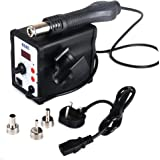 Reelva Desoldering Unsoldering Iron Rework Station 640W Heat Hot Air Gun Kit Micro LED Digital Display with 3 Nozzles