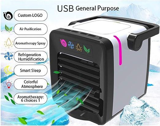 99AMZ Portátil Pequeño USB Aire Acondicionado Con asa Silencioso ...
