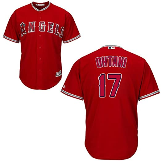 8eec5c8dd Image Unavailable. Image not available for. Color  Shohei Ohtani Los  Angeles Angels  17 MLB Youth Alternate Jersey Red ...