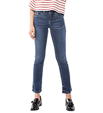 41e9c709b612e Amazon.com  Silver Jeans Co. Women s Aiko Mid Rise Slim Bootcut ...