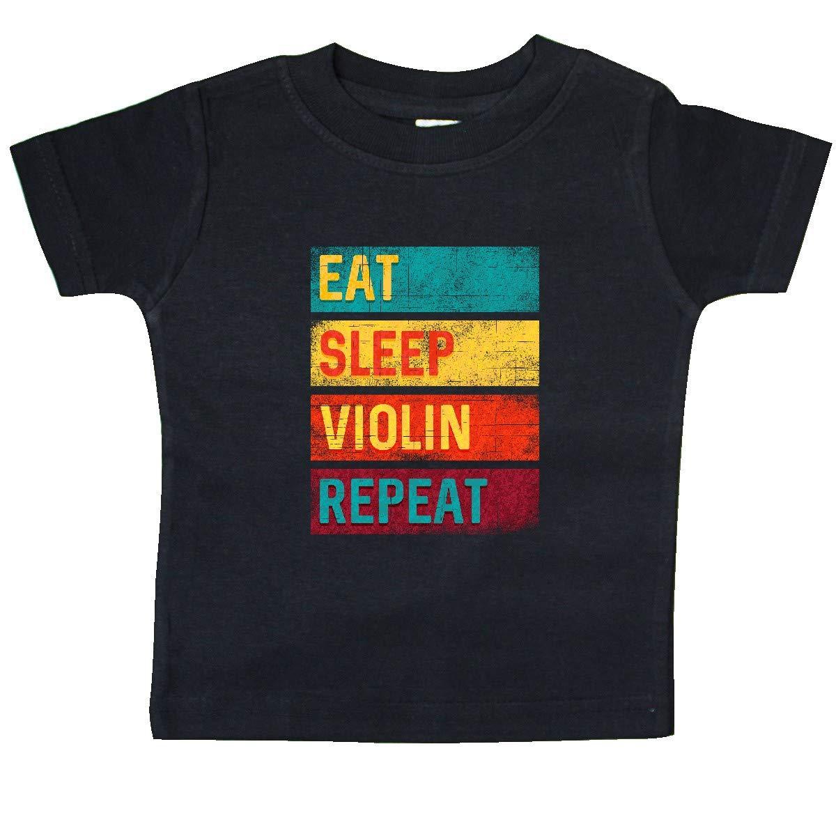 inktastic Violin Player Eat Sleep Violin Repeat Baby T-Shirt