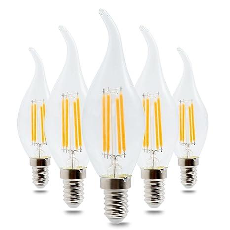 SRY-- Bombilla de bajo consumo de luz blanca cálida y fría ...