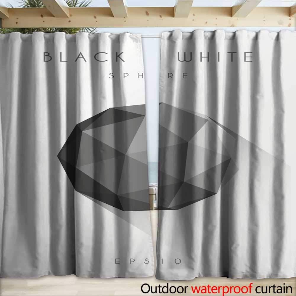 Amazon com : warmfamily Waterproof Sliding Door Curtains Polygon