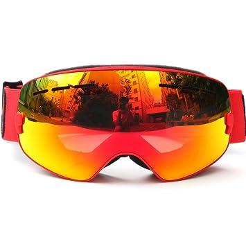 12b6f94ba7d0 Docooler Children Ski Snowboard Skate Goggles with Wide Spherical Lens  Anti-fog UV400 Protection for Girls Boys