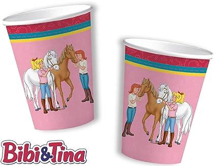 8 vasos * Bibi & Tina * para Fiesta de cumpleaños y niños DH ...