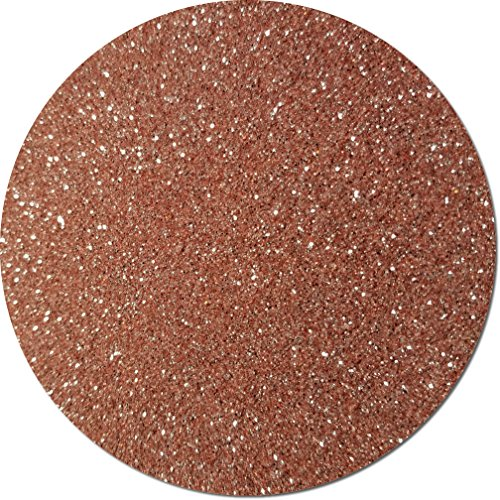 Glitter My World! Fine Flake Craft Glitter: 1 lb Jar A Rose Gold]()