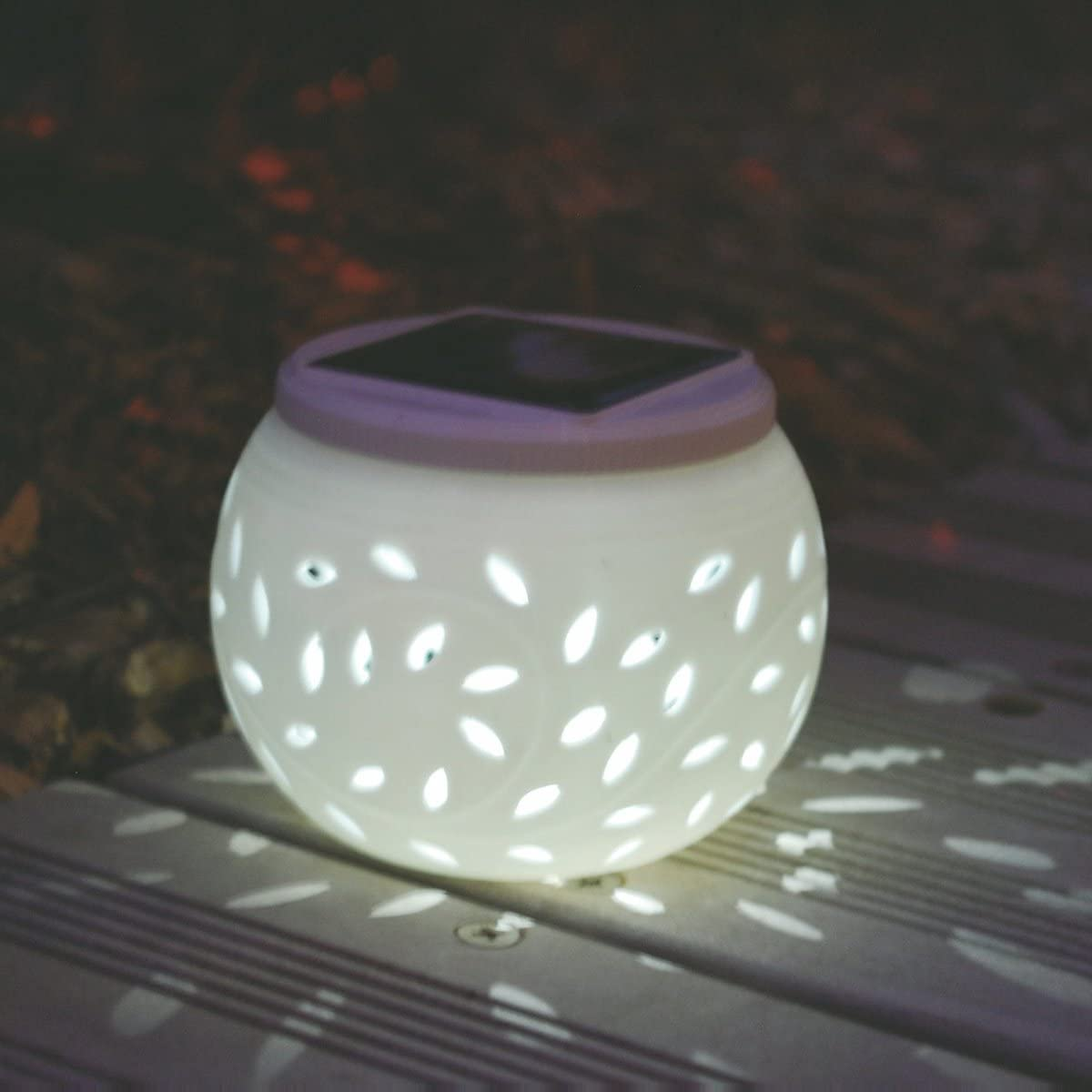 LEDMOMO LED Solar Ceramic Table Lights Garden Lights Colorful Solar Night Lights Lamp Waterproof for Party Home Yard Patio Outdoor Indoor Decoration