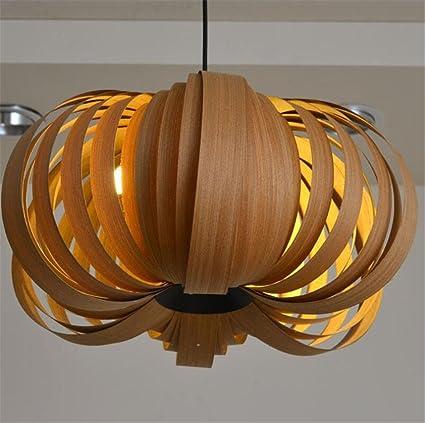 Lucky Clover A Ceiling Light Pumpkin Wood Veneer Pendant
