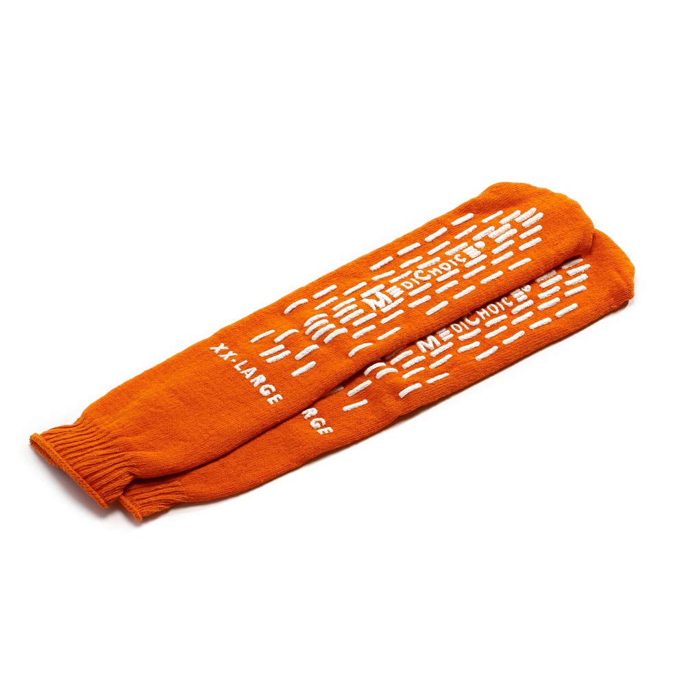 MediChoice Terry Cloth Slippers, Double Tread, XXL, Orange, 1314SLP16DO (Case of 48 Pairs - 96 Total) by MediChoice