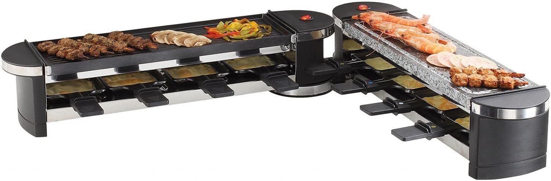 Domoclip DOC160 Aparato para raclette y parrilla modulable negro 1200 W: Amazon.es: Hogar